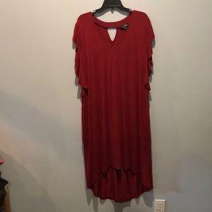 Peekaboo Back High Low Tunic Dress